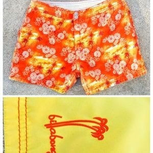 Billabong reversible board shorts orange yellow